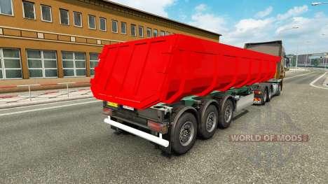 Полуприцеп-самосвал для Euro Truck Simulator 2