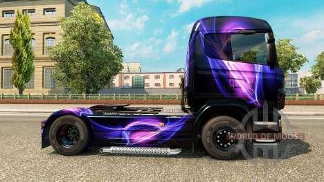 Скин Black and Purple на тягач Scania для Euro Truck Simulator 2