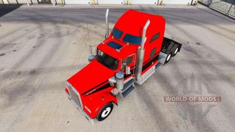 Скин Red-black stripes на тягач Kenworth W900 для American Truck Simulator