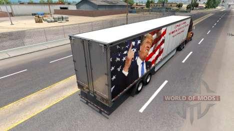 Скин Trump на полуприцеп для American Truck Simulator
