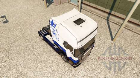 Скин Blue V8 на тягач Scania для Euro Truck Simulator 2