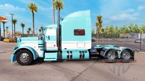 Скин Blue-White на тягач Peterbilt 389 для American Truck Simulator