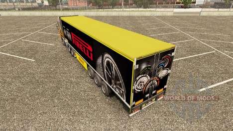 Скин Pirelli на полуприцеп для Euro Truck Simulator 2