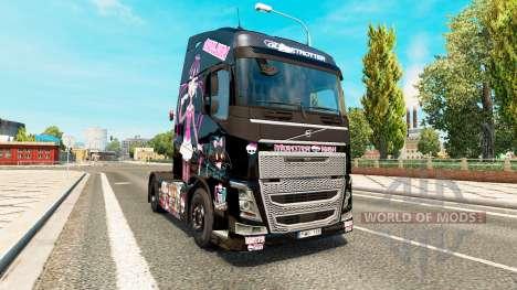 Скин Monster High на тягач Volvo для Euro Truck Simulator 2