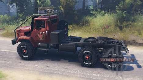 КрАЗ-64372 для Spin Tires