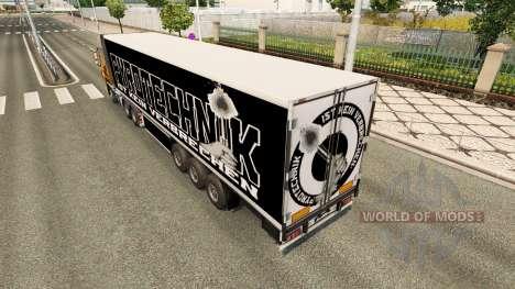 Скин Pyrotechnics на полуприцеп для Euro Truck Simulator 2