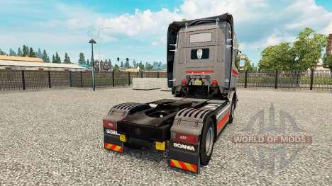 Скин Monstera на тягач Scania для Euro Truck Simulator 2