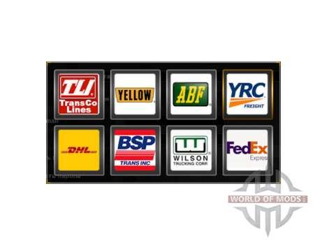 Логотипы грузовых компаний США для American Truck Simulator
