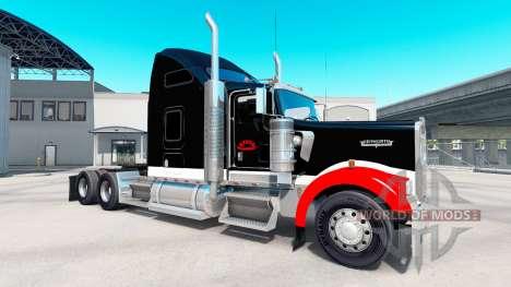 Скин Netstoc Logistica на тягач Kenworth W900 для American Truck Simulator