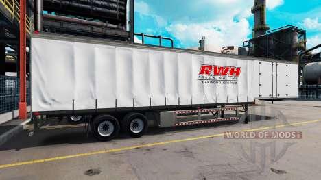 Сборник скинов на полуприцепы v3.0 для American Truck Simulator