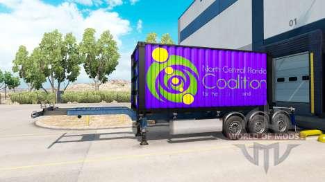 Полуприцеп North Central Florida Coalition для American Truck Simulator