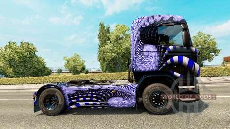 Скин Blue Ladder на тягач Scania для Euro Truck Simulator 2