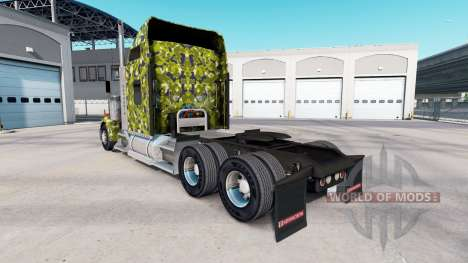 Скин Army Camo на тягач Kenworth W900 для American Truck Simulator