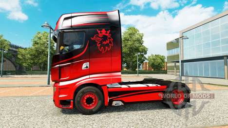 Скин Black & Red на тягач Scania R700 для Euro Truck Simulator 2