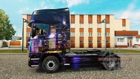 Скин Skyline на тягач Scania для Euro Truck Simulator 2