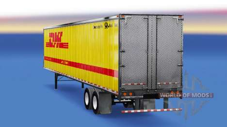 Цельнометаллический полуприцеп DHL для American Truck Simulator