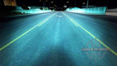 Аквамариновый ксеноновый свет для American Truck Simulator