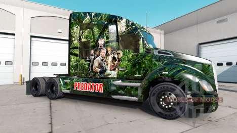 Скин Predator на тягачи Peterbilt и Kenworth для American Truck Simulator