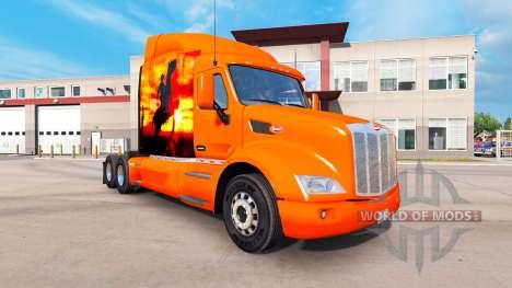 Скин Cowboy на тягач Peterbilt для American Truck Simulator