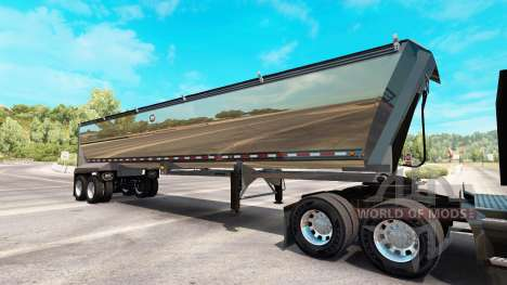 Хромированный полуприцеп самосвал для American Truck Simulator