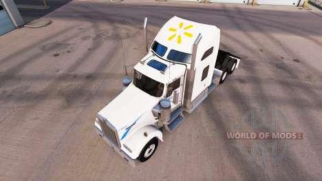 Скин Walmart на тягач Kenworth W900 для American Truck Simulator