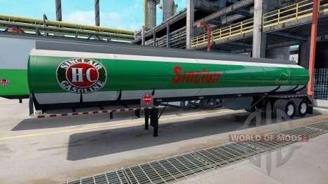 Логотипы топливных компаний на полуприцепах для American Truck Simulator