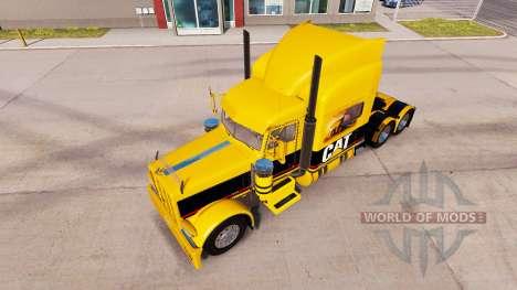 Скин CAT на тягач Peterbilt 389 для American Truck Simulator