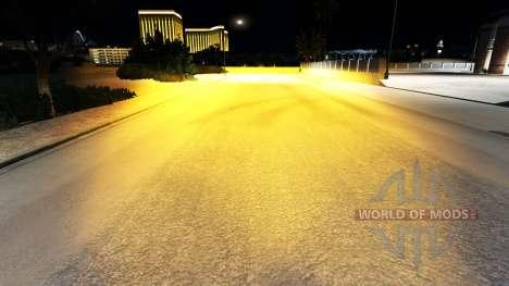 Оранжевый ксеноновый свет для American Truck Simulator