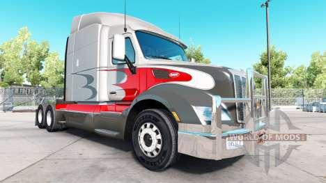 Хромированный кенгурятник на Peterbilt 579 для American Truck Simulator