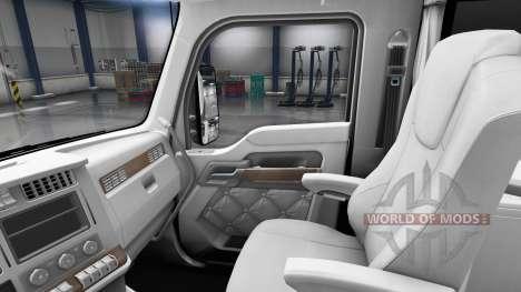 Белый интерьер Kenworth T680 для American Truck Simulator