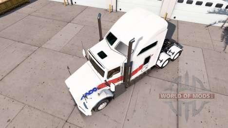 Скин USA на тягач Kenworth T800 для American Truck Simulator