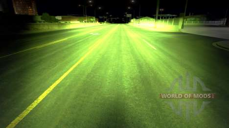 Травянистый ксеноновый свет для American Truck Simulator