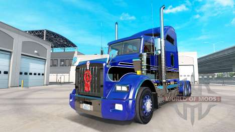 Скин Blue-black на тягач Kenworth T800 для American Truck Simulator