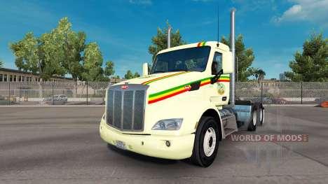 Скин Reggae на тягач Peterbilt для American Truck Simulator