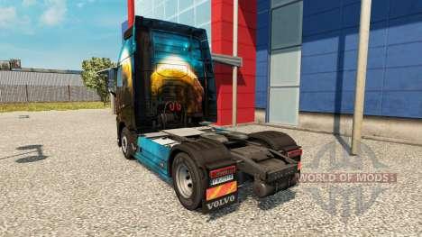 Скин Planet на тягач Volvo для Euro Truck Simulator 2