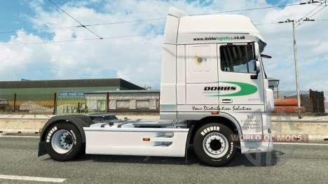 Скин Dobbs Logistics на тягач DAF для Euro Truck Simulator 2