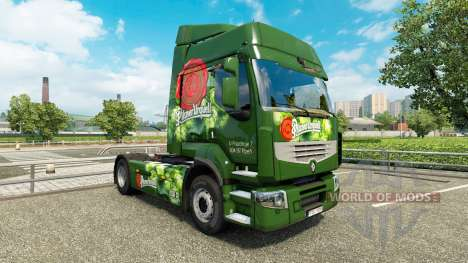 Скины Czech Beer на тягач Renault для Euro Truck Simulator 2