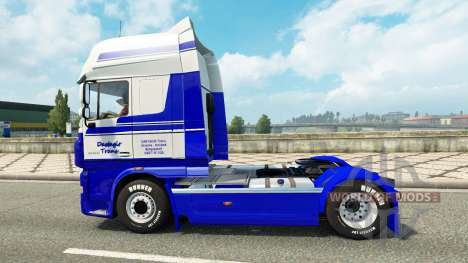 Скин DastagirTrans на тягач DAF для Euro Truck Simulator 2