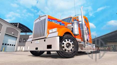 Скин American на тягач Kenworth W900 для American Truck Simulator