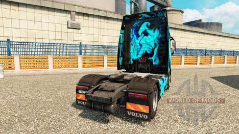 Скин Green Smoke на тягач Volvo для Euro Truck Simulator 2