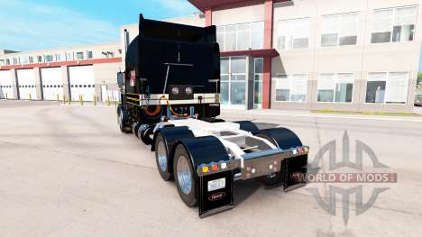 Скин Silver-black на тягач Peterbilt 389 для American Truck Simulator