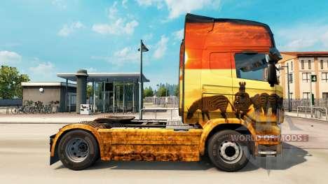 Скин Safari на тягач Scania для Euro Truck Simulator 2