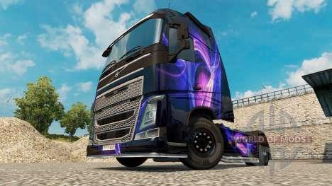 Скин Black & Purple на тягач Volvo для Euro Truck Simulator 2