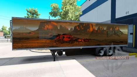 Скин Wild West на полуприцеп для American Truck Simulator