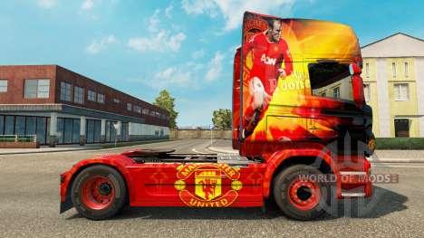 Скин Manchester United на тягач Scania для Euro Truck Simulator 2