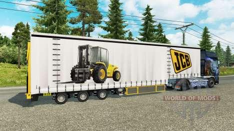 Шторный полуприцеп Krone JCB для Euro Truck Simulator 2