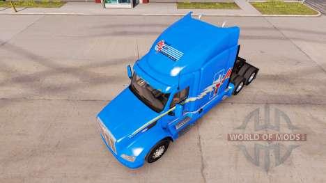 Скин MVT на тягач Peterbilt для American Truck Simulator