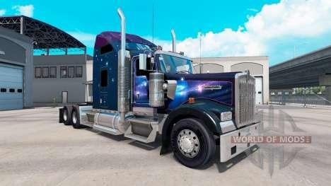 Скин Falling Star на тягач Kenworth W900 для American Truck Simulator