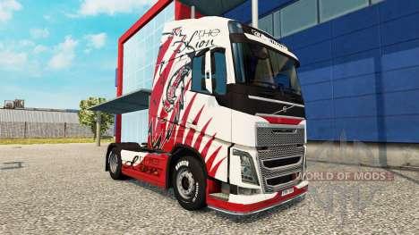 Скин Lion на тягач Volvo для Euro Truck Simulator 2