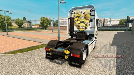Скин Minions на тягач Iveco для Euro Truck Simulator 2